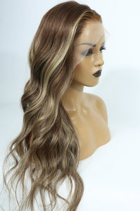 High Quality Ombre  Color Highlight Lace Frontal Wig - Jeybeauty