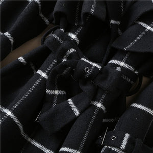 high quality woolen white black coats - Jeybeauty