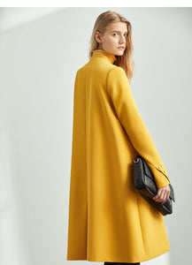 elegant New double-breasted coat - Jeybeauty