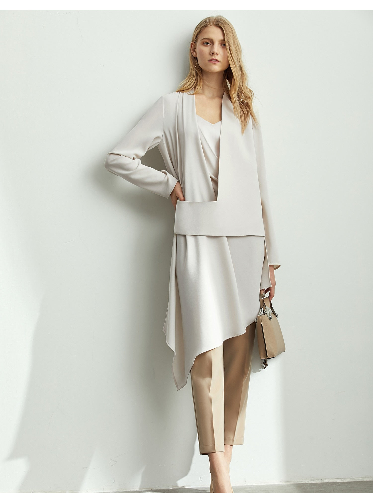 New French Style Asymmetric minimalist jacket - Jeybeauty
