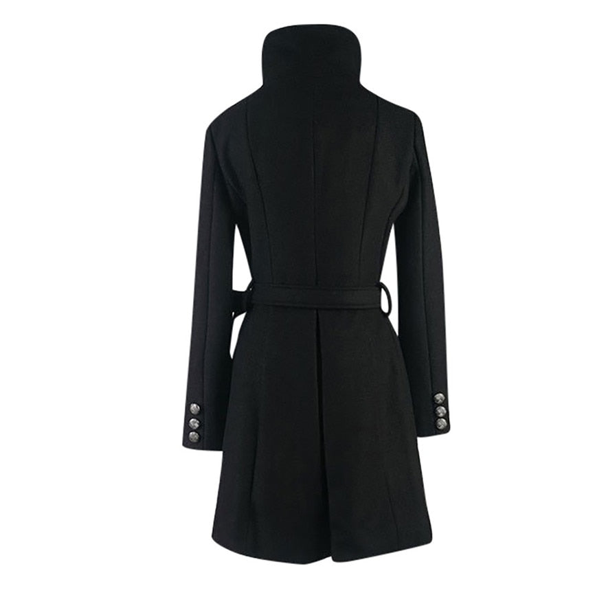 Lapel Wool Warm Windproof Overcoat - Jeybeauty