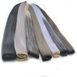 Ombre Color Elderly Hairpieces - Jeybeauty