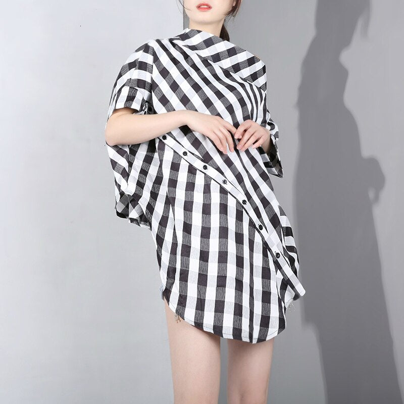 Elegany Plaid Blouse - Jeybeauty