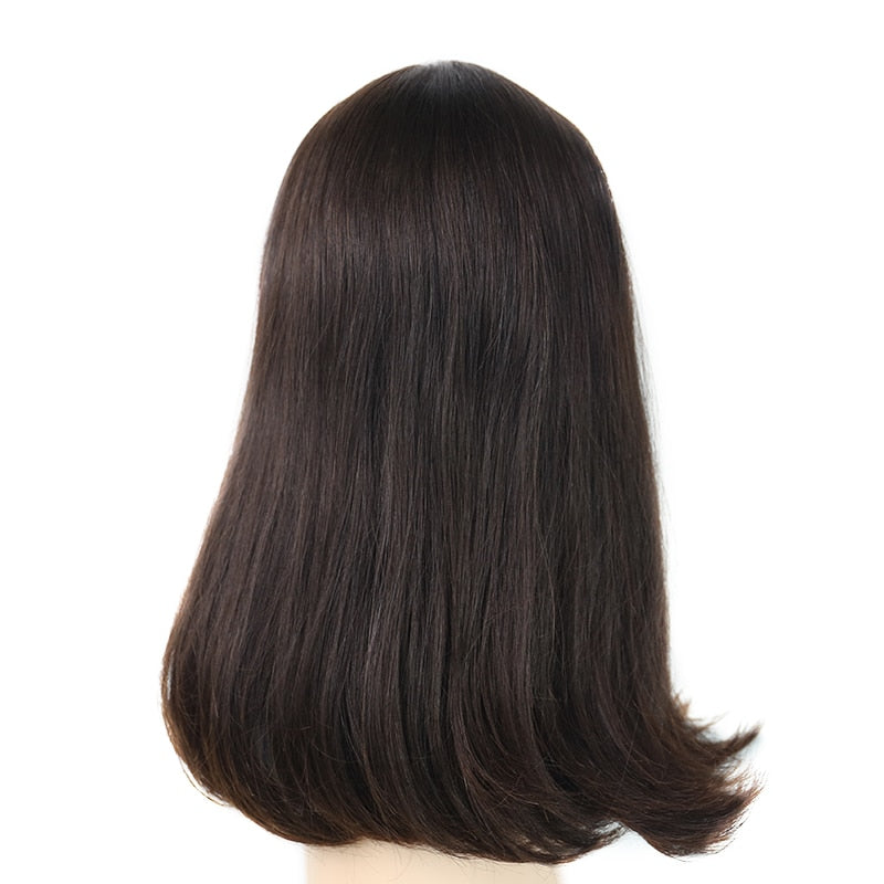 Double Drawn Full Ends Silk Base Kosher European Wigs - Jeybeauty