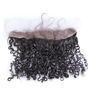 Brazilian Hair Frontal Super Double Drawn Small Kinky Curl - Jeybeauty