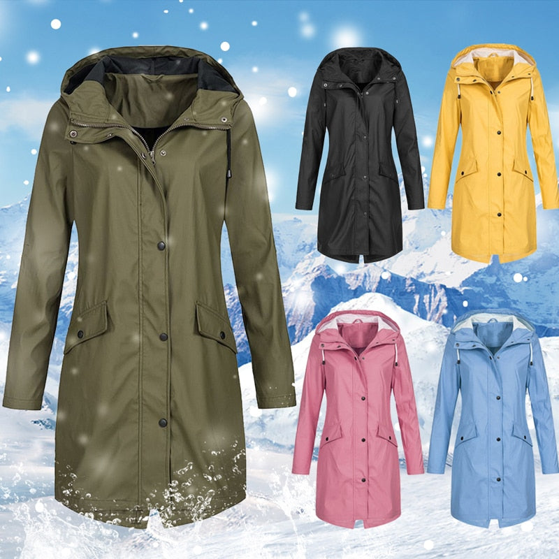 Windproof Hooded Coats - Jeybeauty