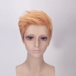 Short Golden Orange Synthetic Wig - Jeybeauty