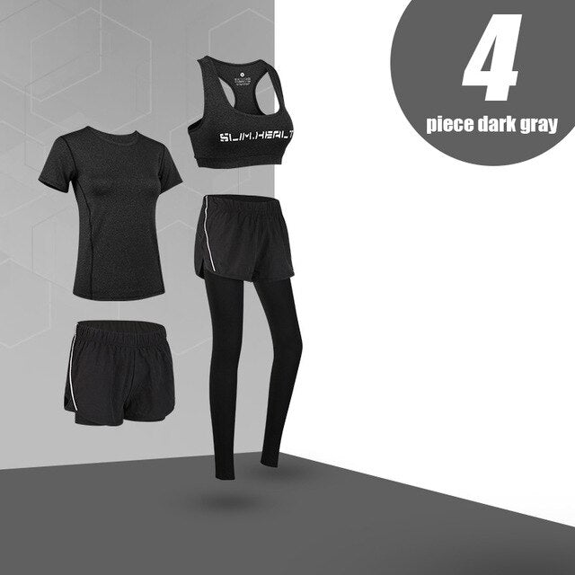 High Waist Yoga 5 Pieces Set - Jeybeauty