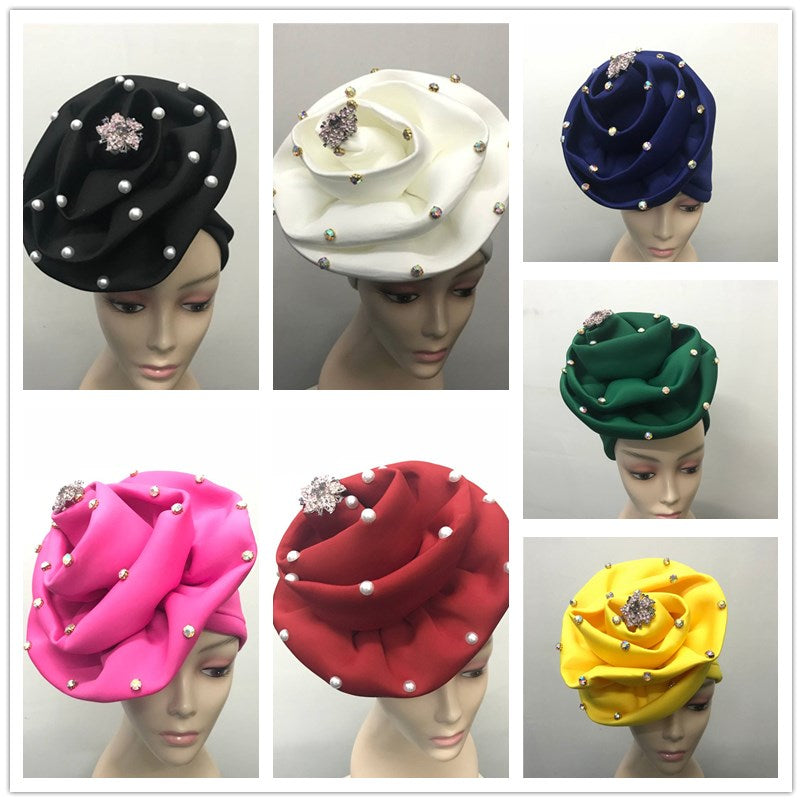 Auto gele headtie with beads - Jeybeauty
