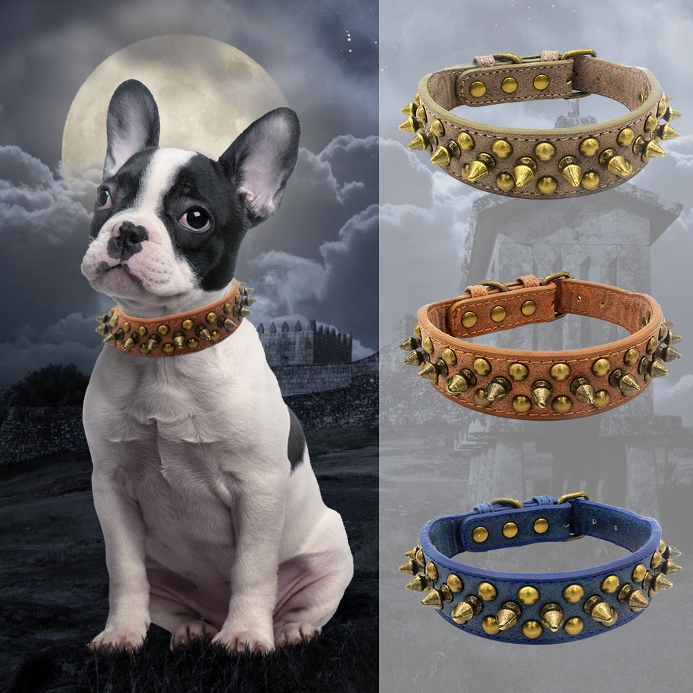 Punk Spiked Studded Rivet Dog Collar - Jeybeauty