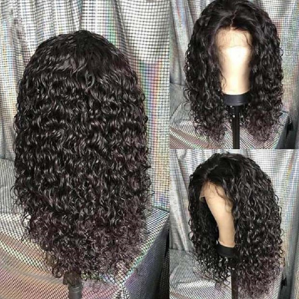 Brazilian Full Curly Lace Frontal Wigs With Baby Hair - Jeybeauty