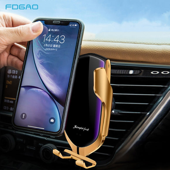 Smart Wireless Automatic Fast Charging Car Phone Holder - Jeybeauty