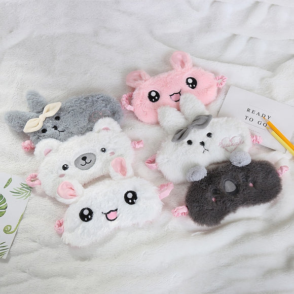 Cartoon Plush Sleeping Mask - Jeybeauty
