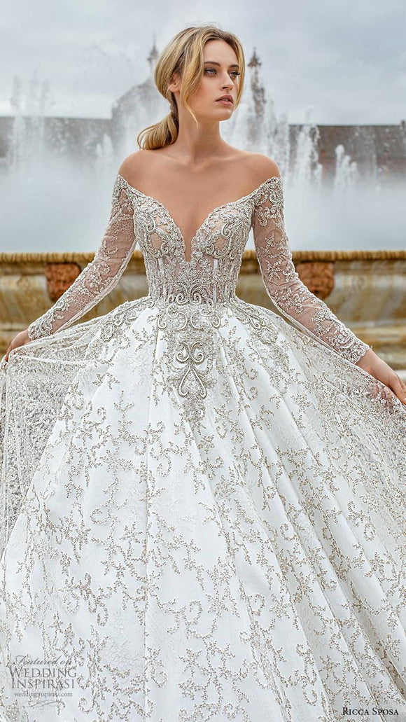 Princess Royal Beading Wedding Gowns - Jeybeauty