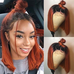 Bob Ginger Brown  Lace Wigs - Jeybeauty