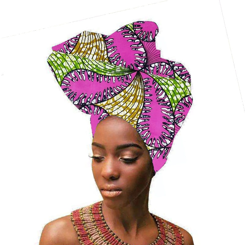 African Wax Print Ankara Head Band Wrap - Jeybeauty