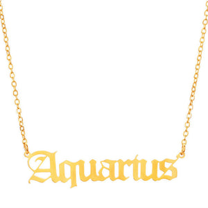 Choker Horoscope Pendant Necklace