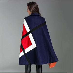 Ponchos Cape Wool coat