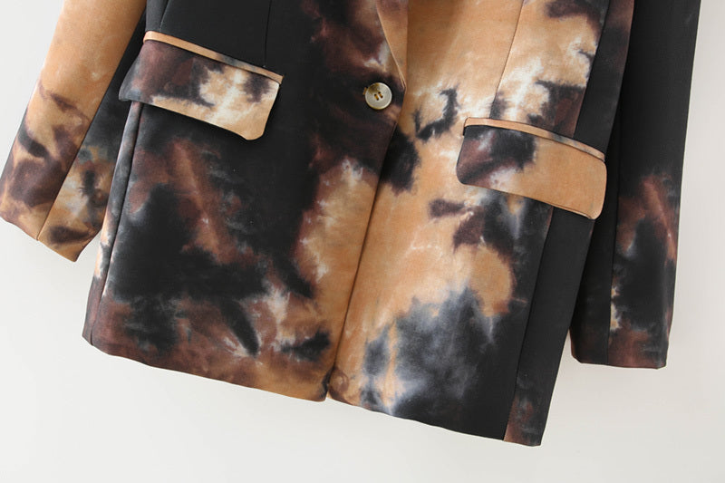Elegant  Ink Graffiti Jacket