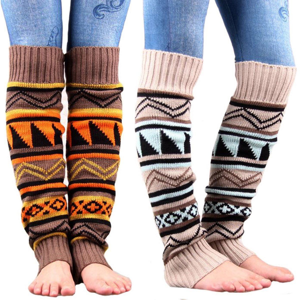Trim Bohemian gaiters Crochet Knitted Stocking Boot Cuffs Topper Footless Leg WarmersStockings - Jeybeauty