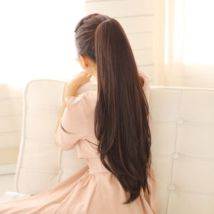 Long Claw Clip Drawstring Ponytail Hair Extensions   Synthetic Hairpieces - Jeybeauty