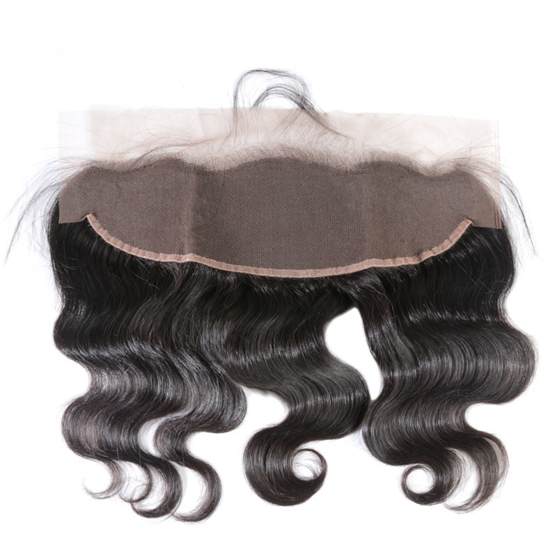 Lace Frontal Closure 13X4 with Baby Hair Pre Plucked Brazilian Body Wave Human Hair Free Part Virgin Hair - Jeybeauty