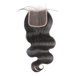 5x5 Lace Closure Pre-Plucked With Baby Hair Brazilian Body Wave Virgin Human Hair Closure Free Shipping - Jeybeauty
