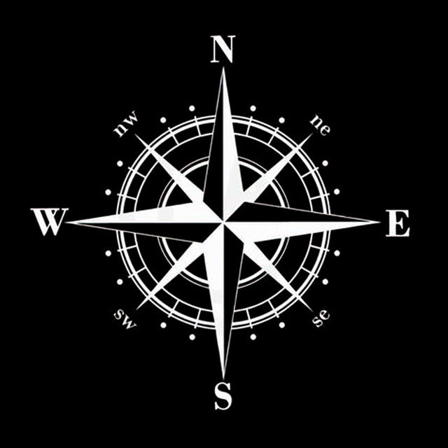 NSWE Compass Car Stickers Decals - Jeybeauty