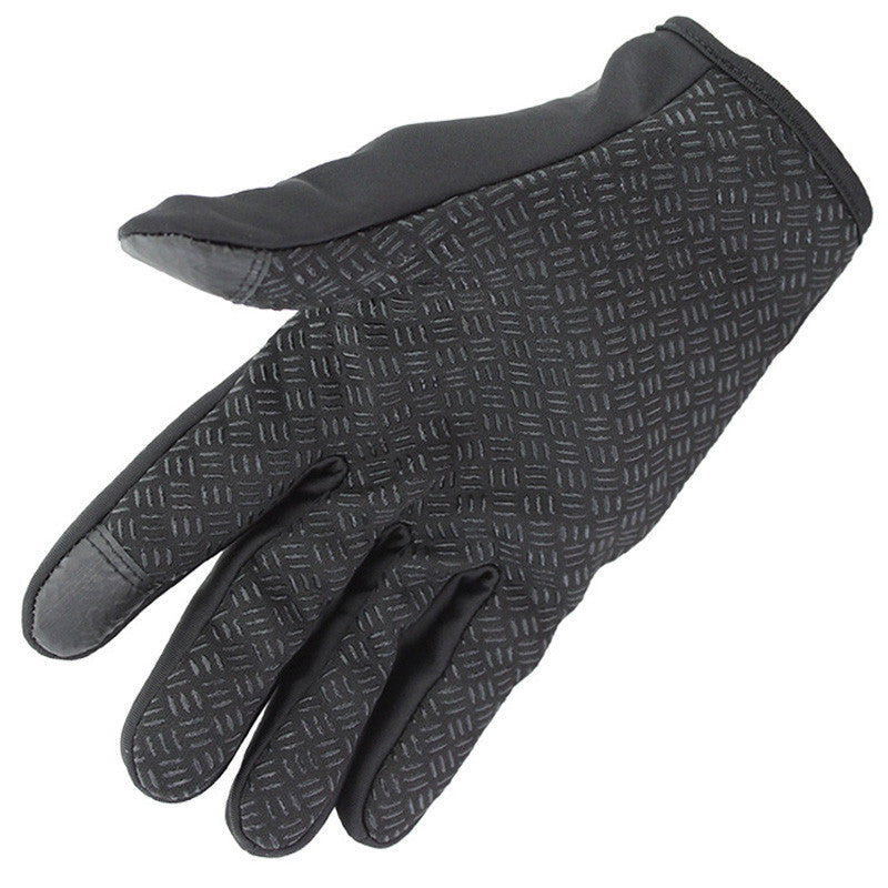 Men Woman Zipper Windstopers Gloves Anti Slip Windproof Thermal Warm Touchscreen Glove - Jeybeauty