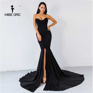 Sexy wrapped chest asymmetric maxi dress party dress FT1683 - Jeybeauty