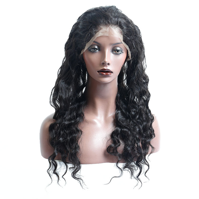 Loose Wave 360 Lace Frontal Closure Pre Plucked Hairline With Baby Hair - Jeybeauty