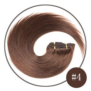 White Blonde 160G Full Head Set  Clip In Human Hair Remy Real Hair Straight - Jeybeauty