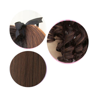 Long Kinky Curly Ponytail Drawstring HairClip In Hair Extensions Natural - Jeybeauty