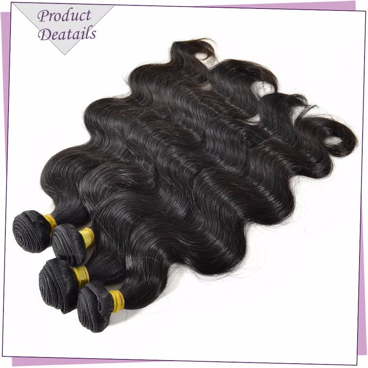 Brazilian Virgin Hair Body Wave 4 Bundles Deal  100%Unprocessed Cuticle Aligned Raw Human Hair Weaving - Jeybeauty