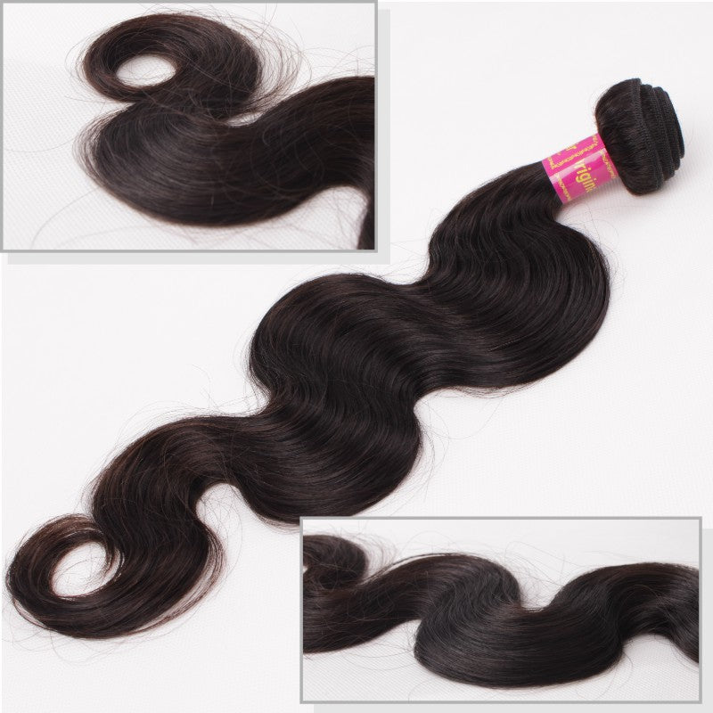 Brazilian Body Wave Virgin 100% Human Hair 2 Bundles 360 Lace Frontal Closure - Jeybeauty