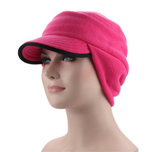 Windproof Warm Fleece Earflap Hat with Visor - Jeybeauty