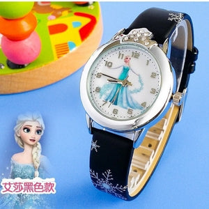 Princess Babbie Watches Fashion Kids Cute rubber Leather quartz Watch Girl - Jeybeauty