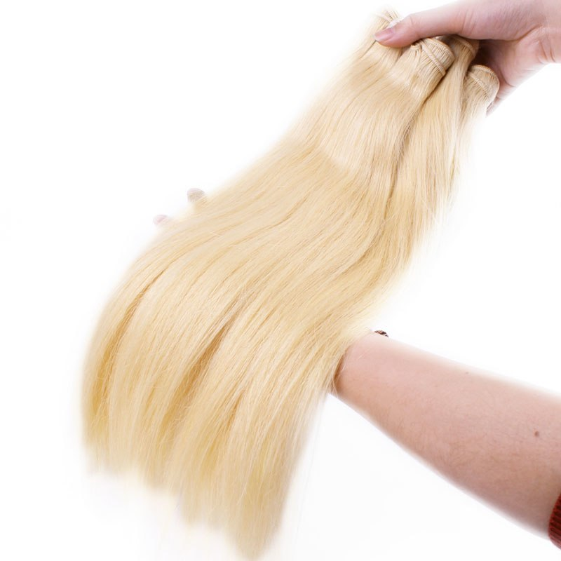 613 Blonde Bundle Virgin Straight Brazilian Hair - Jeybeauty