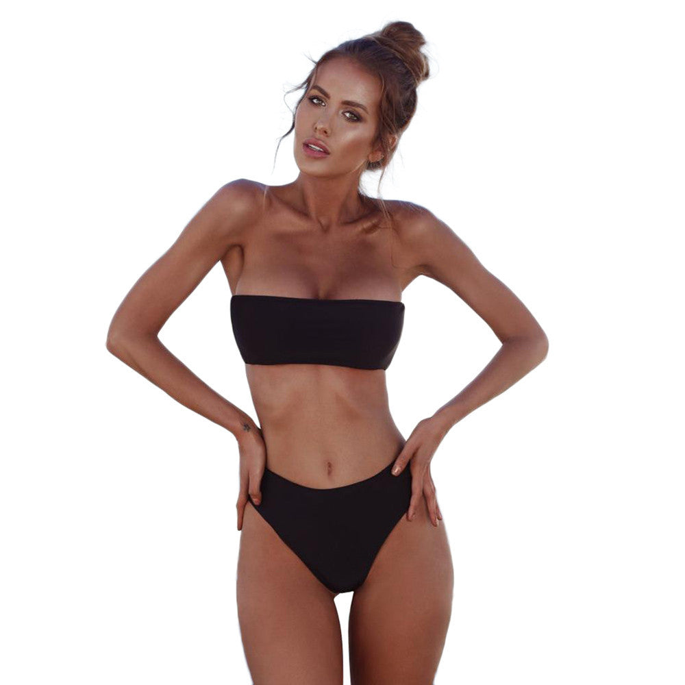 Bandeau Bandage Bikini Set Push-Up Brazilian Swimwear - Jeybeauty