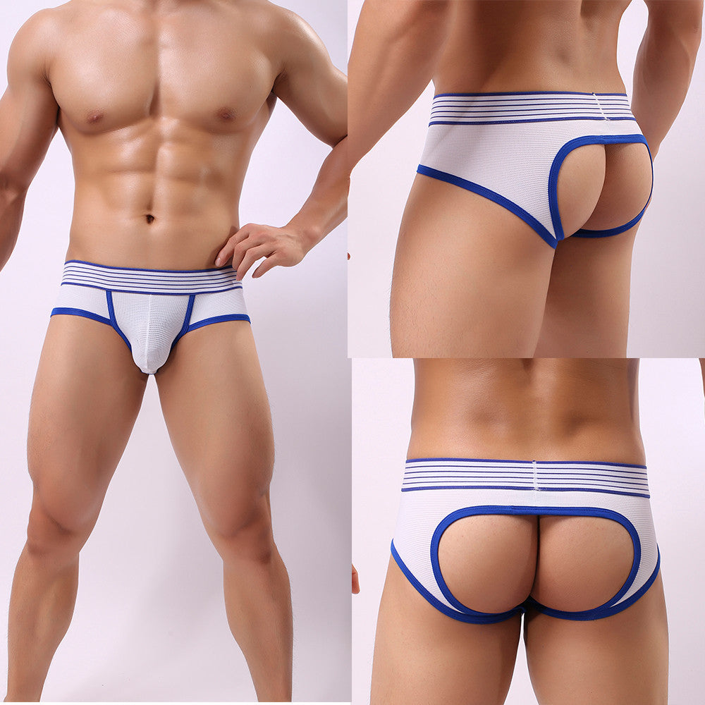 Men Transparent Boxer Briefs Shorts Bulge Pouch Underpants - Jeybeauty