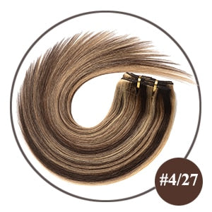 Remy Hair 120G #60 Blonde 16inch-22inch Natural Straight Clip In Human Hair Extensions - Jeybeauty