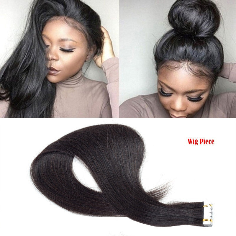 Tape In Virgin Human Hair Extensions (Black Remy Hair) - Jeybeauty