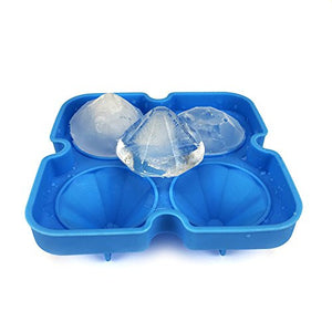 Diamond-Shaped Ice Cube Tray Silicone Easy Release - Jeybeauty