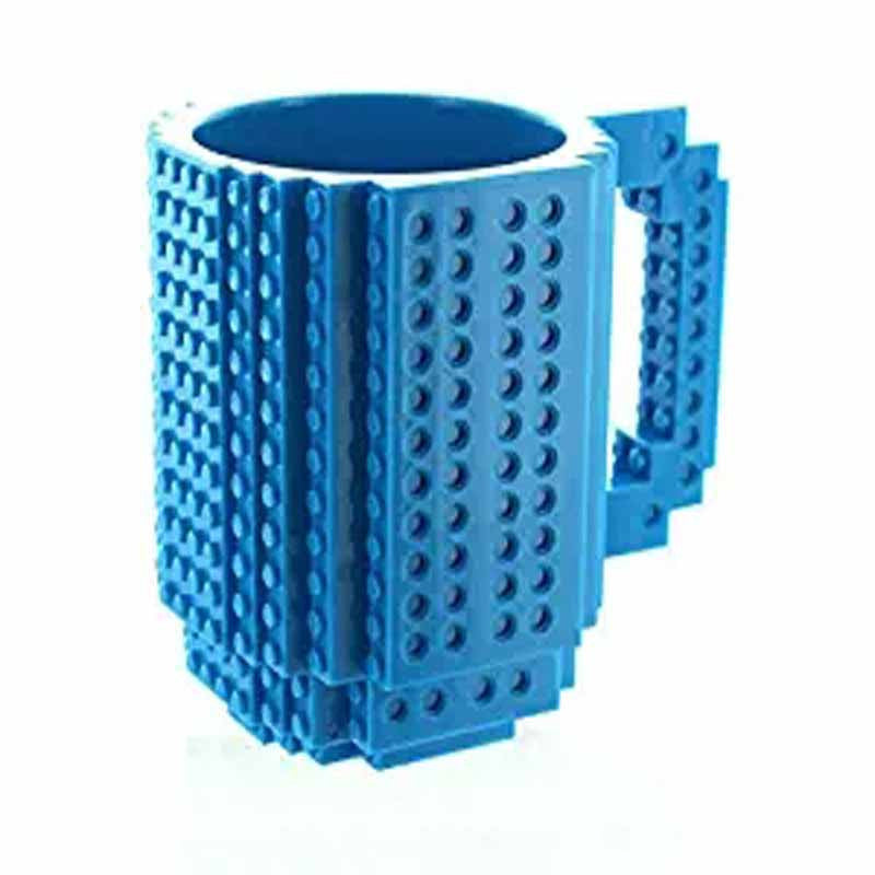 Creative DIY Build-on Brick Mug Lego Style Puzzle Mugs, Building Blocks Coffee Mug - Jeybeauty