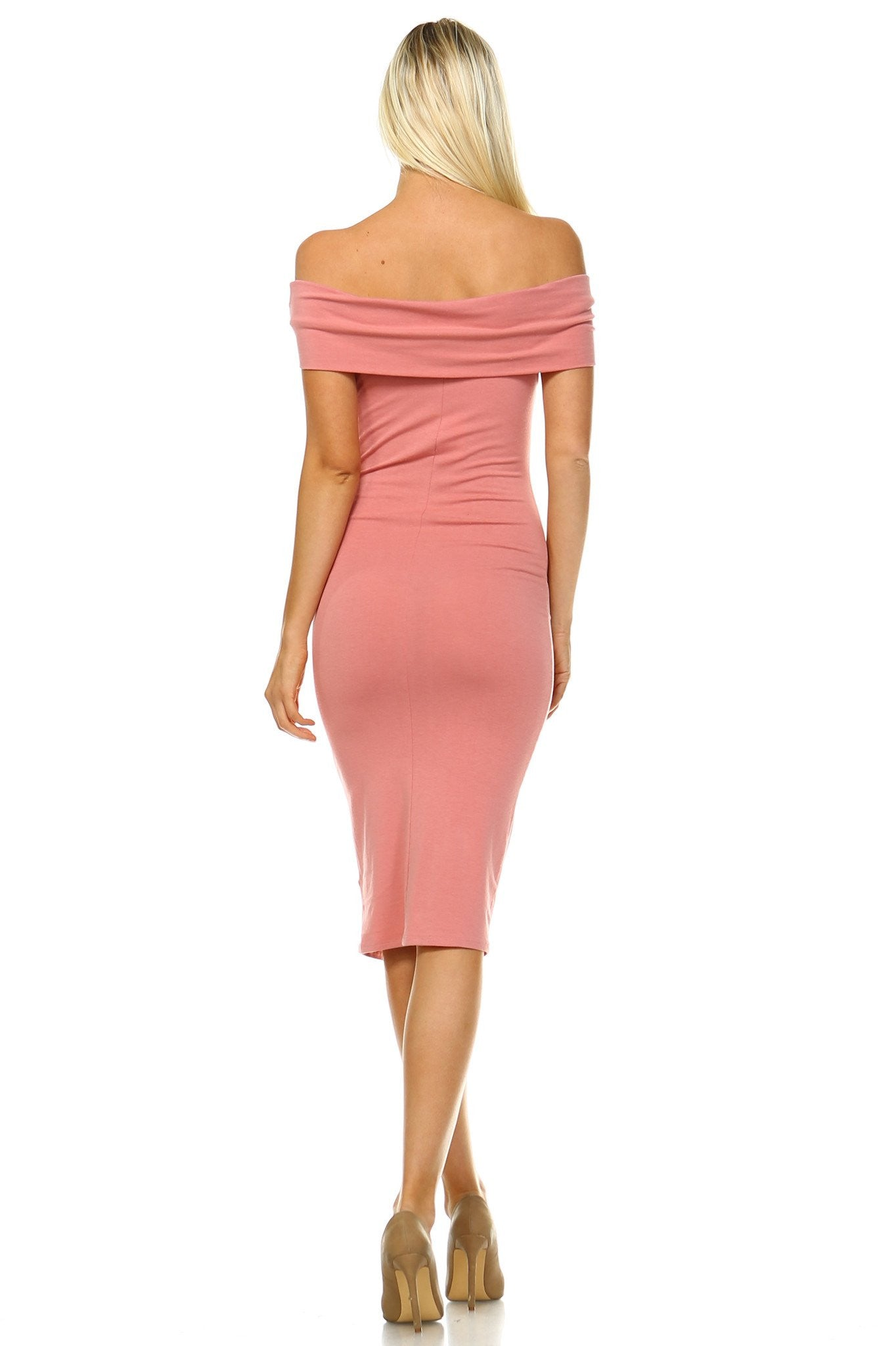Classic  Off Shoulder Bodycon Dress - Jeybeauty