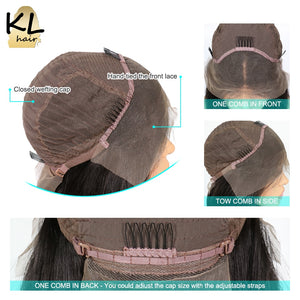 Straight Lace Front  Glueless Full End Brazilian Remy Hair Pre Plucked Lace Wig With Baby - Jeybeauty