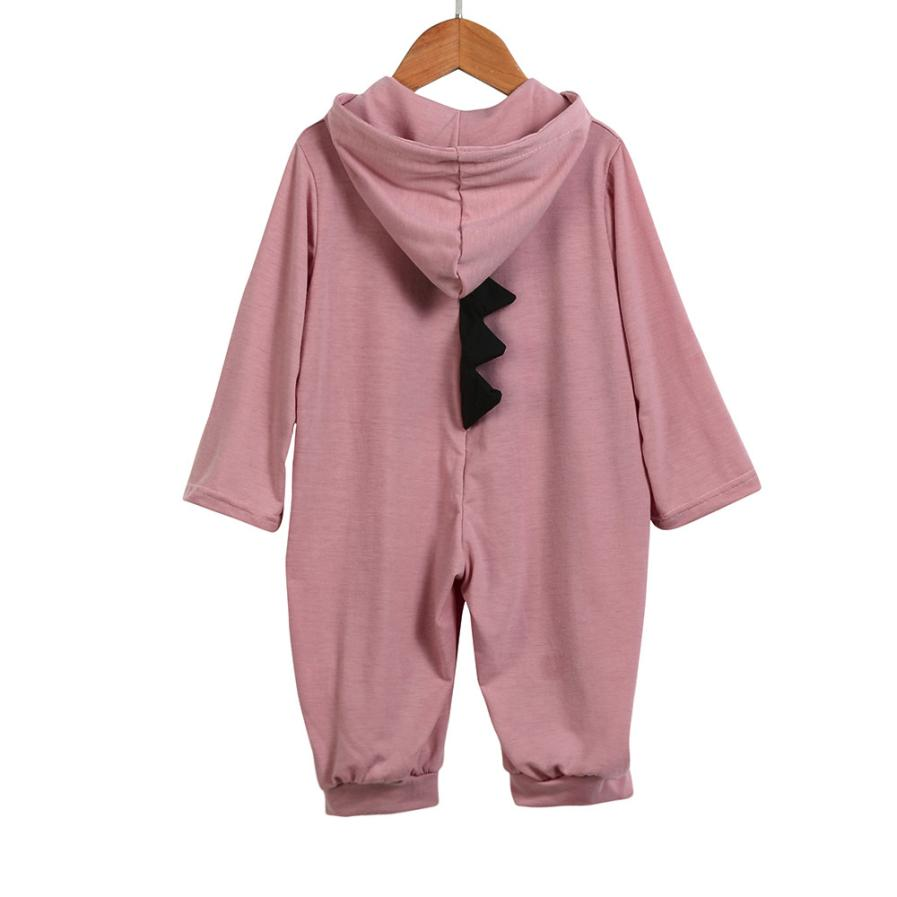 Boy Girl Dinosaur Hooded Romper Jumpsuit - Jeybeauty