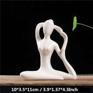 Miniatures Abstract Yoga Stattues Yoj Figurines Vintage Home Decor - Jeybeauty