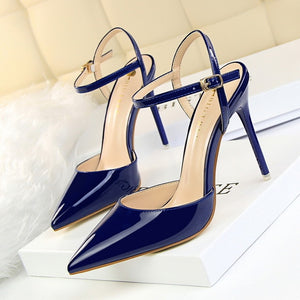 shallow slingback pumps Pointed Toe - Jeybeauty