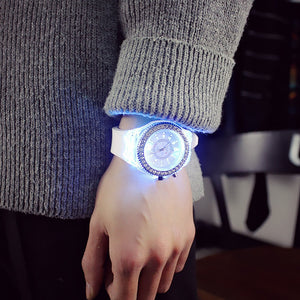 led Flash Luminous 7 color light WristWatch - Jeybeauty